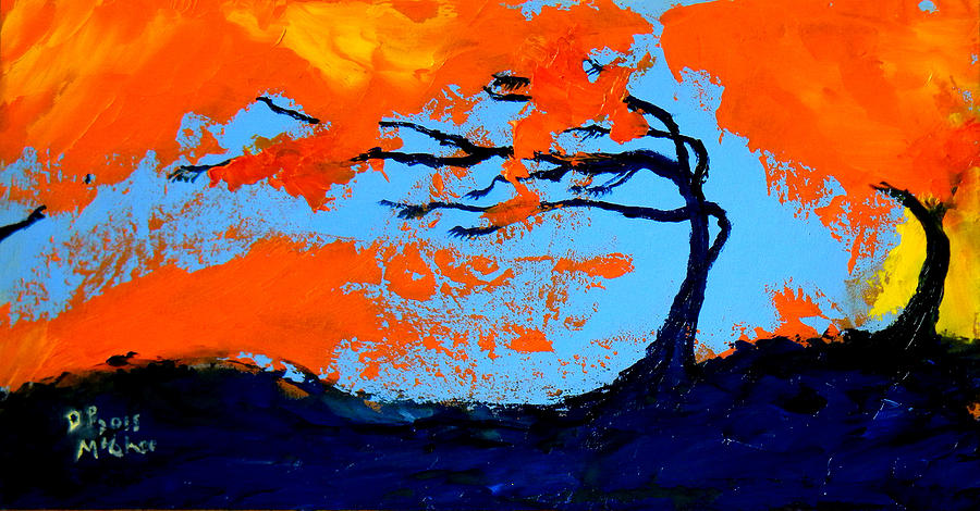 Tree Painting - Windswept by David McGhee