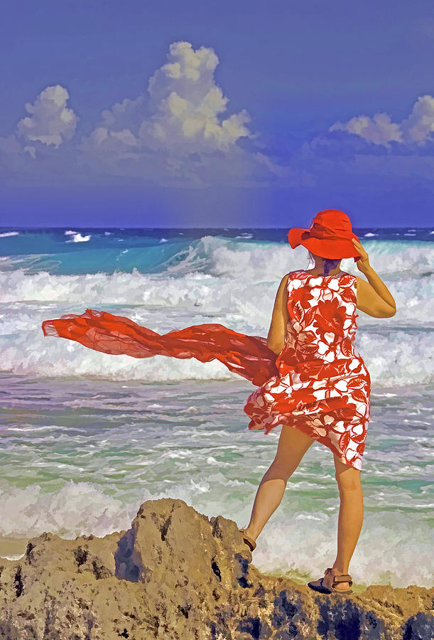 Caribbean Photograph - Windswept by Dennis Cox WorldViews