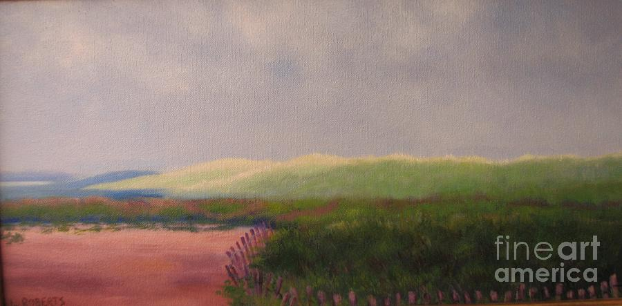 Landscape Painting - Windswept Dunes by Laura Roberts