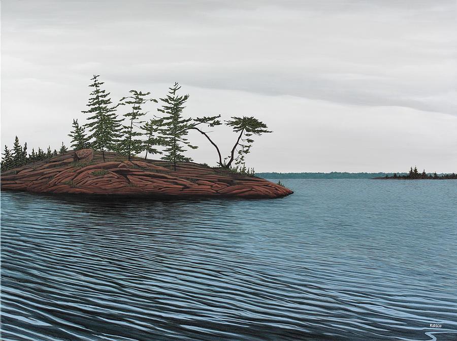 Island Painting - Windswept Island Georgian Bay by Kenneth M  Kirsch