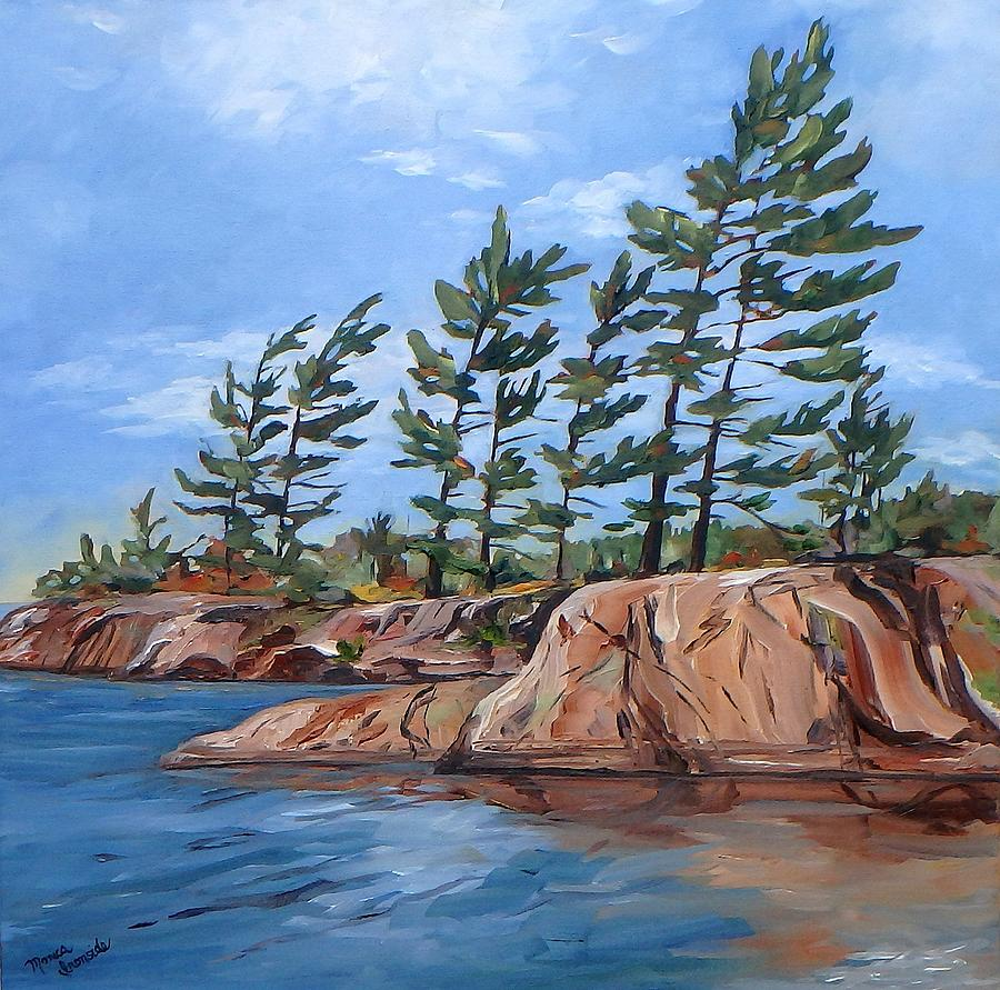 Landscape Painting - Windswept by Monica Ironside