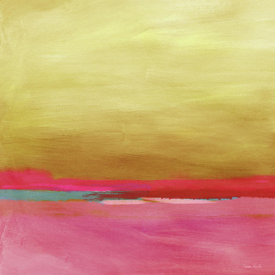 Abstract Mixed Media - Windswept Sunrise- Art by Linda Woods by Linda Woods