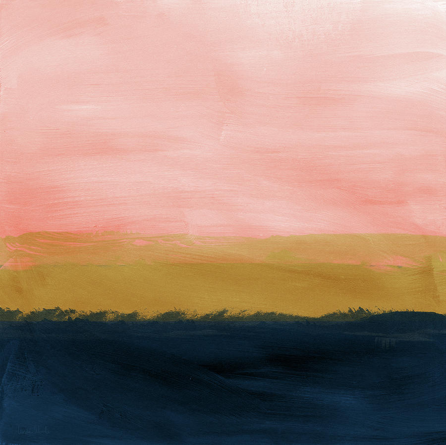 Windswept Sunset Abstract Art By Linda Woods Painting By Linda Woods