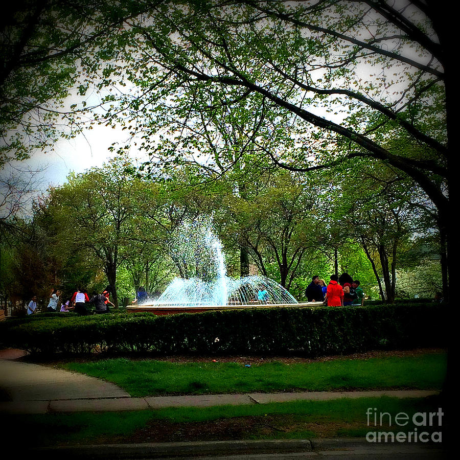 Windy Day At Irwin Fountain Photograph