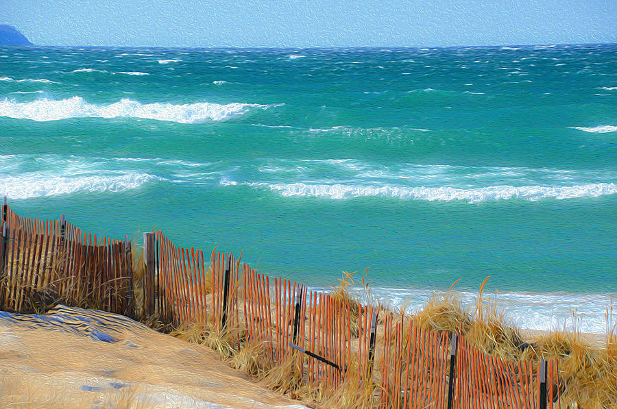 Windy Day On Lake Michigan by SimplyCMB