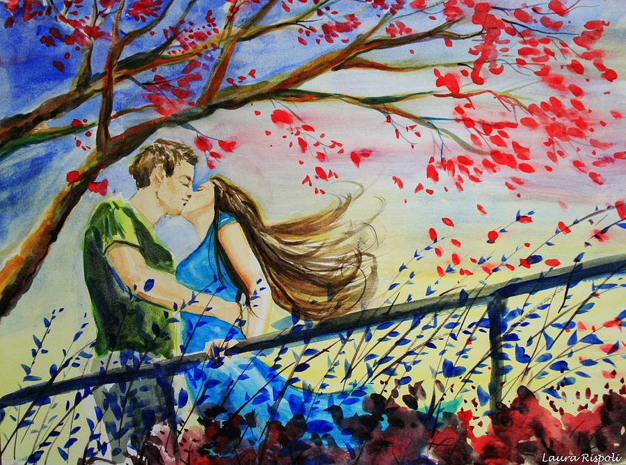 Wind Painting - Windy Kiss by Laura Rispoli