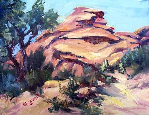 Windy Point Painting by Geri Acosta
