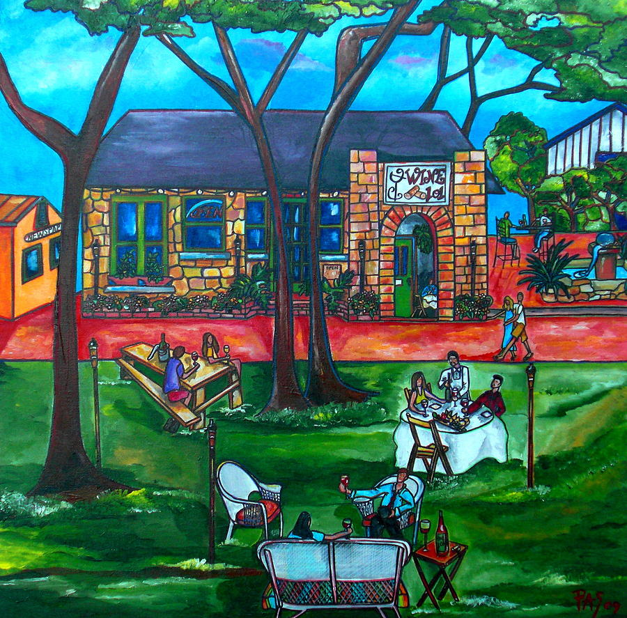 Wine Painting - Wine 101 by Patti Schermerhorn