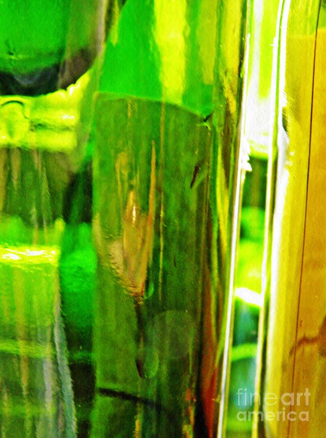 Glass Photograph - Wine Bottles 21 by Sarah Loft