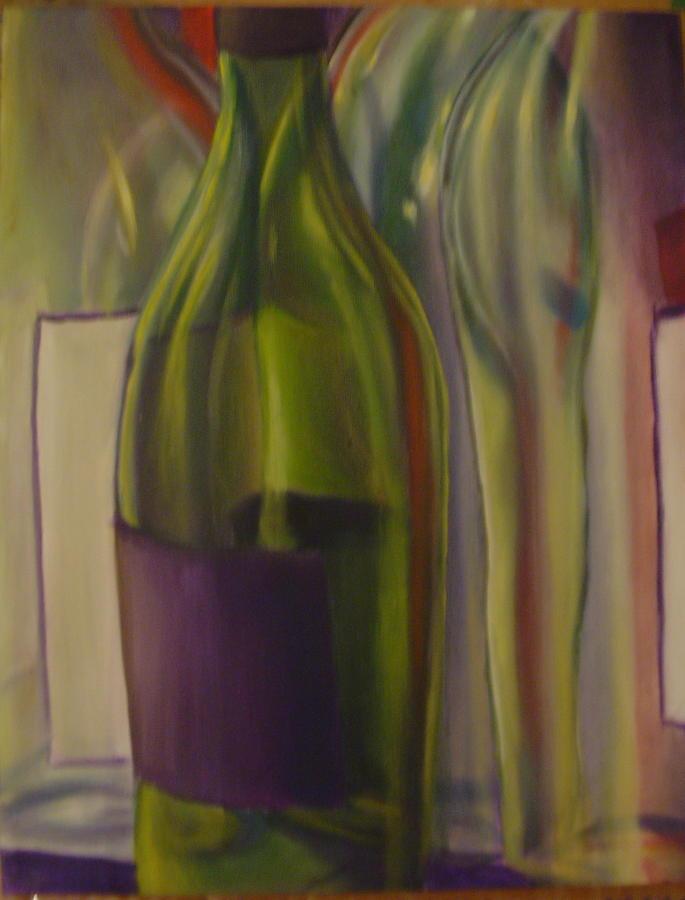 Still Life Painting - Wine Bottles by Robert  Nugent
