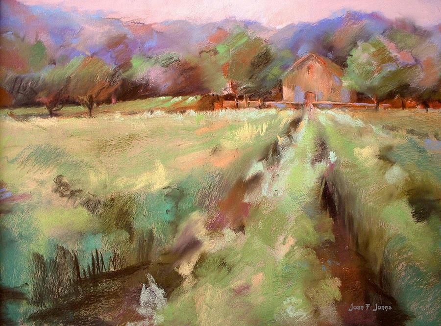 Vineyards Painting - Wine Country 2 by Joan  Jones