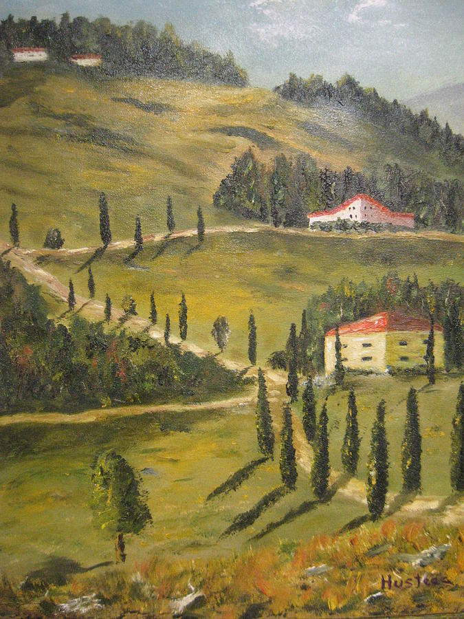Wine Country Painting by Brian Hustead