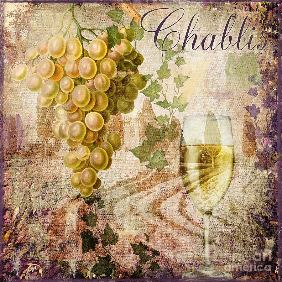 Chablis Painting - Wine Country Chablis by Mindy Sommers
