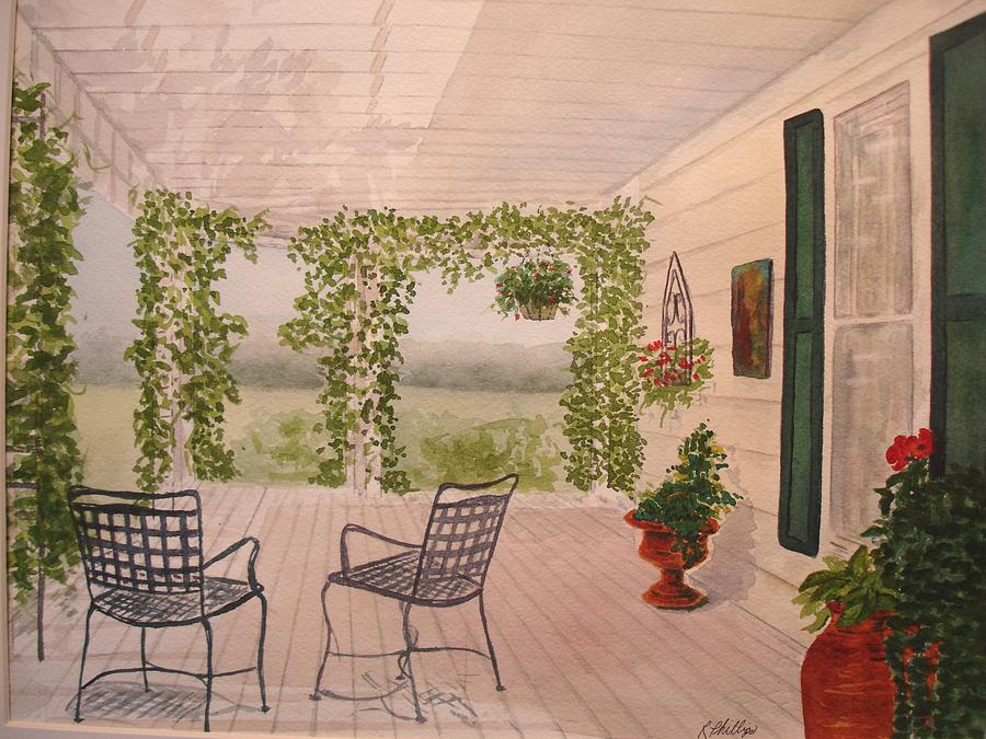 Wine Country Gardens Painting By Rosie Phillips
