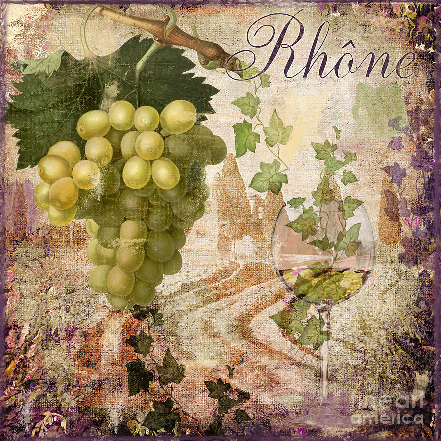Tuscany Painting - Wine Country Rhone by Mindy Sommers