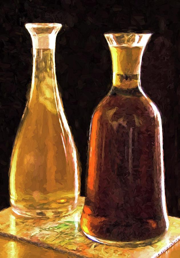 Wine Decanters Digital Art