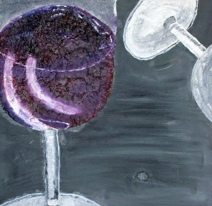 Still Life Paintings Painting - Wine From The Vine To The Glass by Leslye Miller
