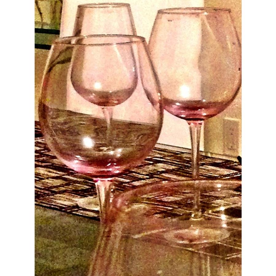 Wine Glass On A Table Photograph by Juan Silva