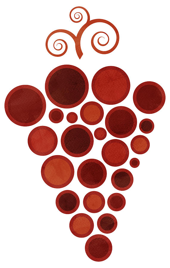 Abstract Painting - Wine Grape by Frank Tschakert