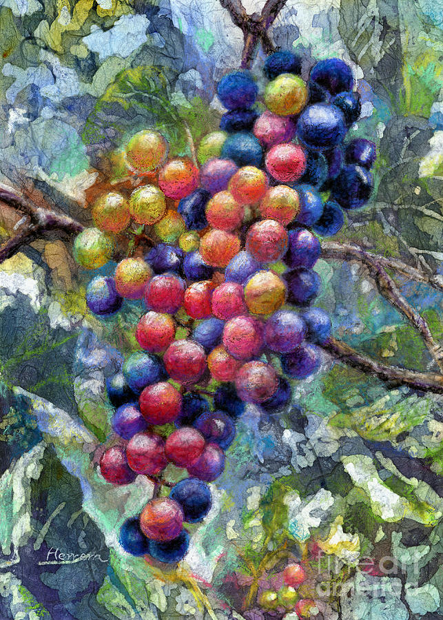 Grape Painting - Wine Grapes by Hailey E Herrera