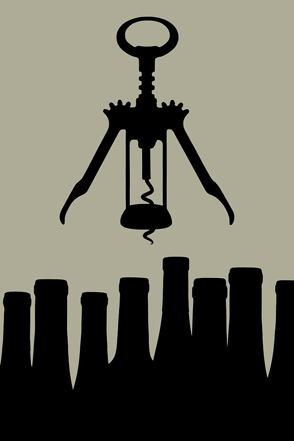 Wine Photograph - Wine Graphic Silhouette by Tom Mc Nemar