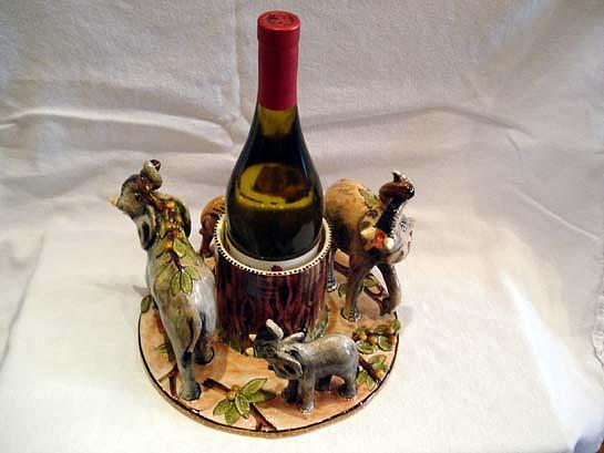 Ceramic Ceramic Art - Wine Holder by E  Kawina
