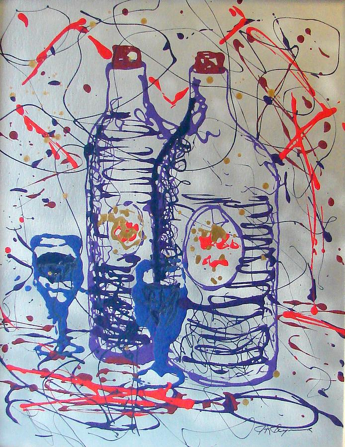 Wine Jugs Painting by J R Seymour