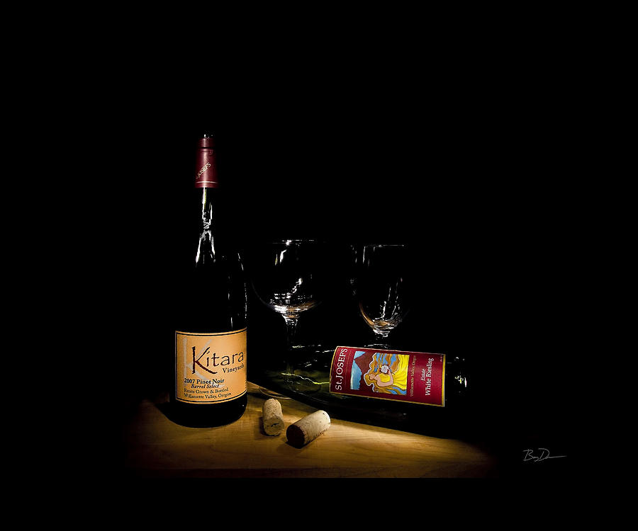 Wine Photograph - Wine Light by Barry C Donovan