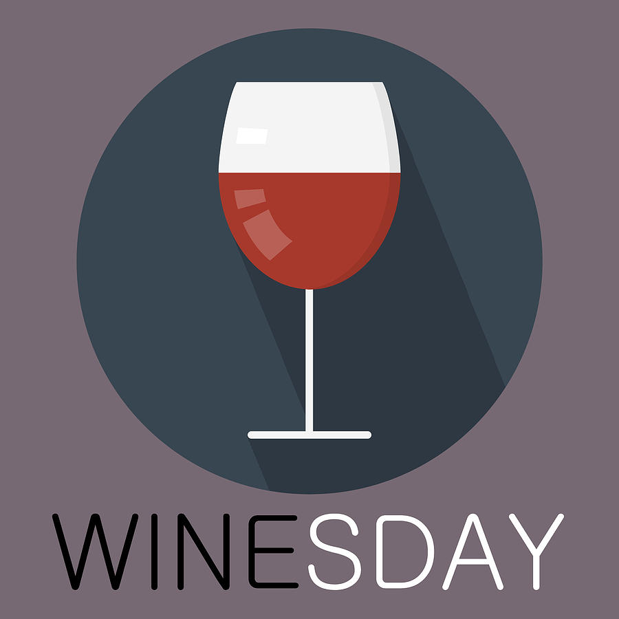 Wine Poster Print - It's Winesday by Beautify My Walls