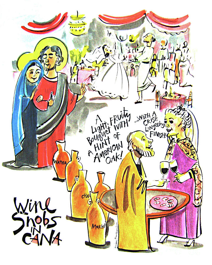Saints Painting - Wine Snobs In Cana - Mmwsc by Br Mickey McGrath OSFS