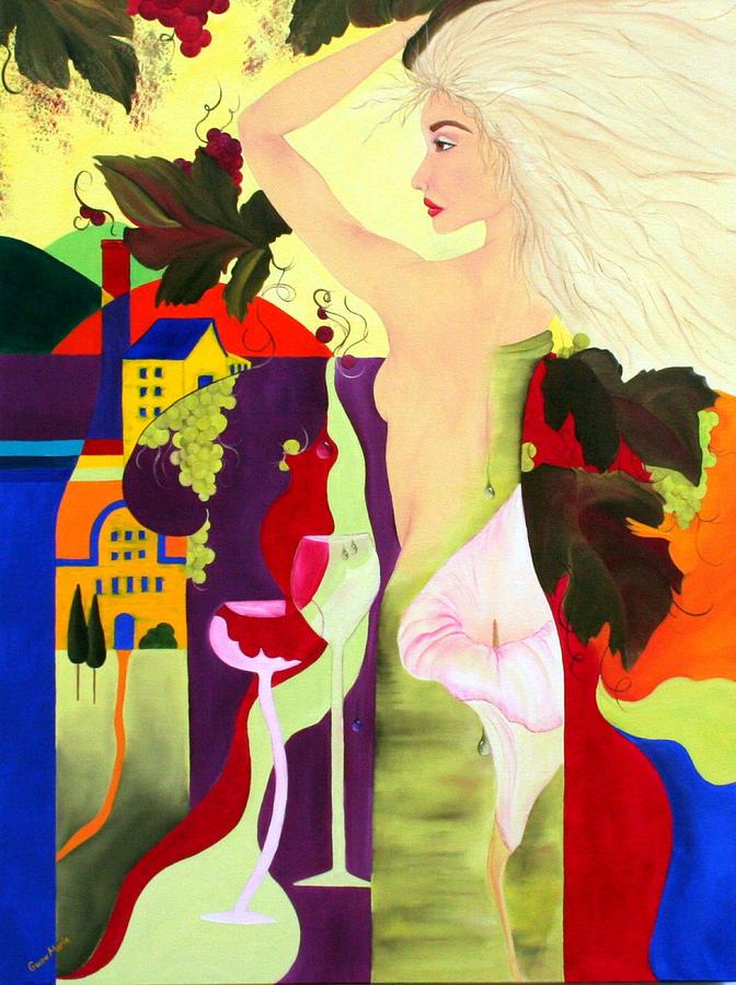 Wine Painting - Wine Spirit by Gwen Rose