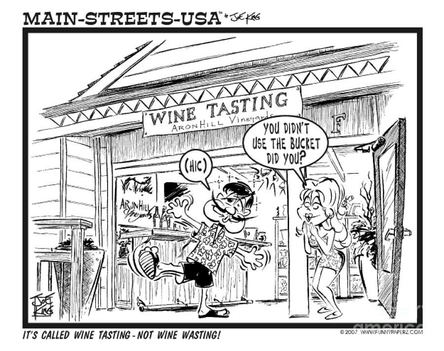 Street Scape Digital Art - Wine Tasting by Joe King