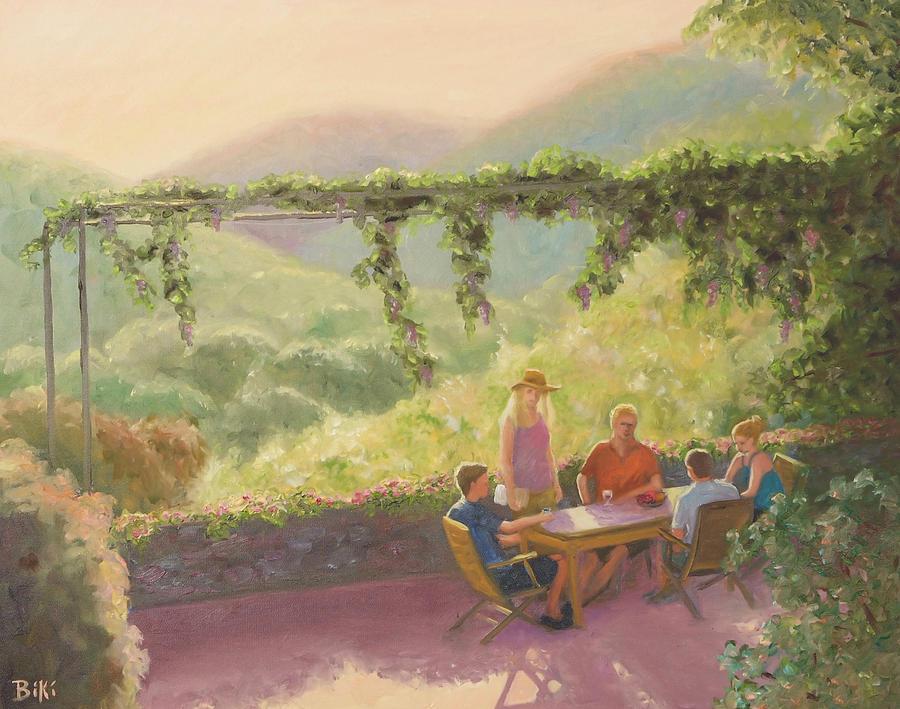 Wine Painting - Wine Time by Biki Chaplain
