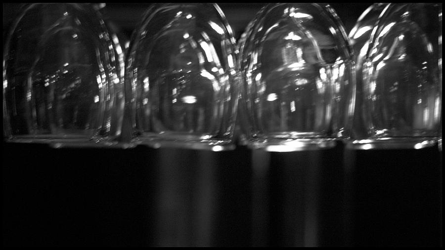 Black And White Photograph - Wine Time by Brad Scott