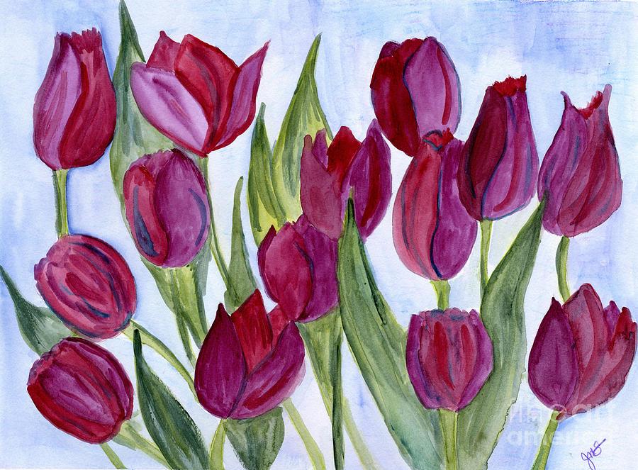 Wine Tulips by Julia Stubbe