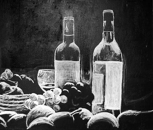 Still Life Painting - Wine With Everything by Kristen Lee Klein