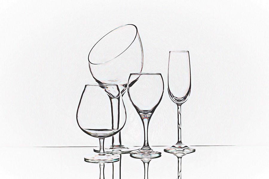 Wine Photograph - Wineglass Graphic by Tom Mc Nemar
