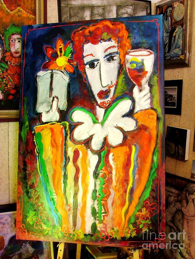 John Platter Painting - Winesnob by Laurens  Barnard