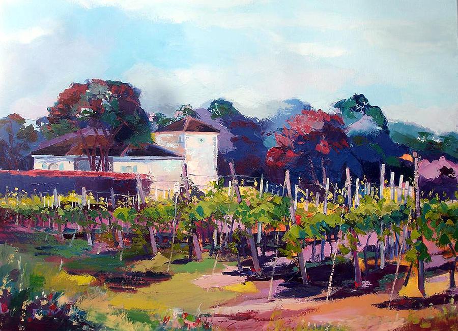 Wineyards At Fleac 16 Painting