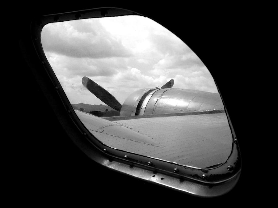 Airplane Photograph - Wing And Window by Dan Holm