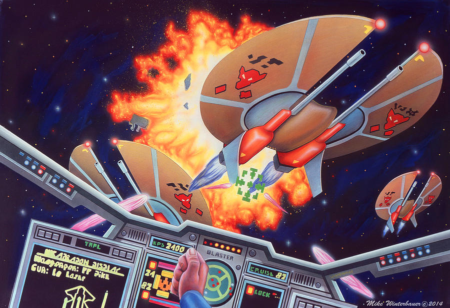 Wing Commander Painting - Wing Commander 1992 by Mike Winterbauer