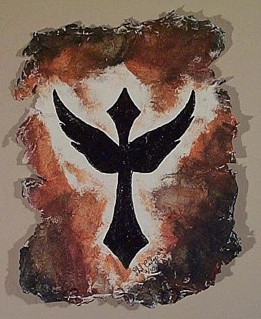 Recycle Mixed Media - Wing Cross by Phillip Carley