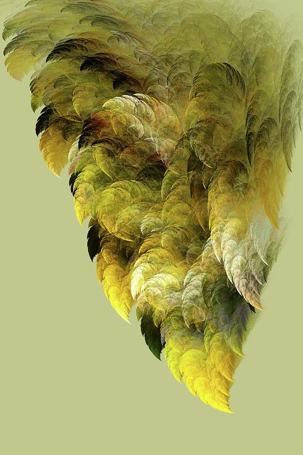 Fractals Digital Art - Winged by Bonnie Bruno