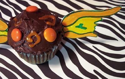 Cupcake Decor Photograph - Winged Cupcake by Sandra Albers