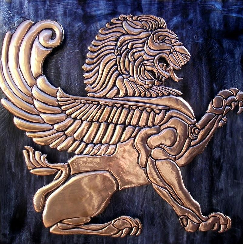 Lion Relief - Winged Lion by Cacaio Tavares