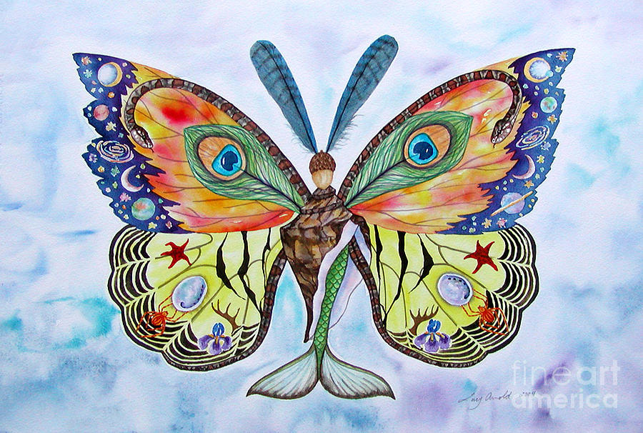 Butterfly Painting - Winged Metamorphosis by Lucy Arnold