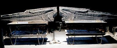 Winged Pediment Sculpture by Jerry Williams