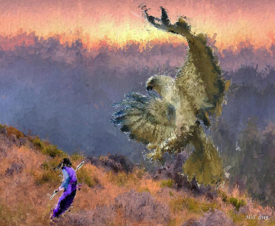 Native American Legends Digital Art - Winged Terror by T D Hill