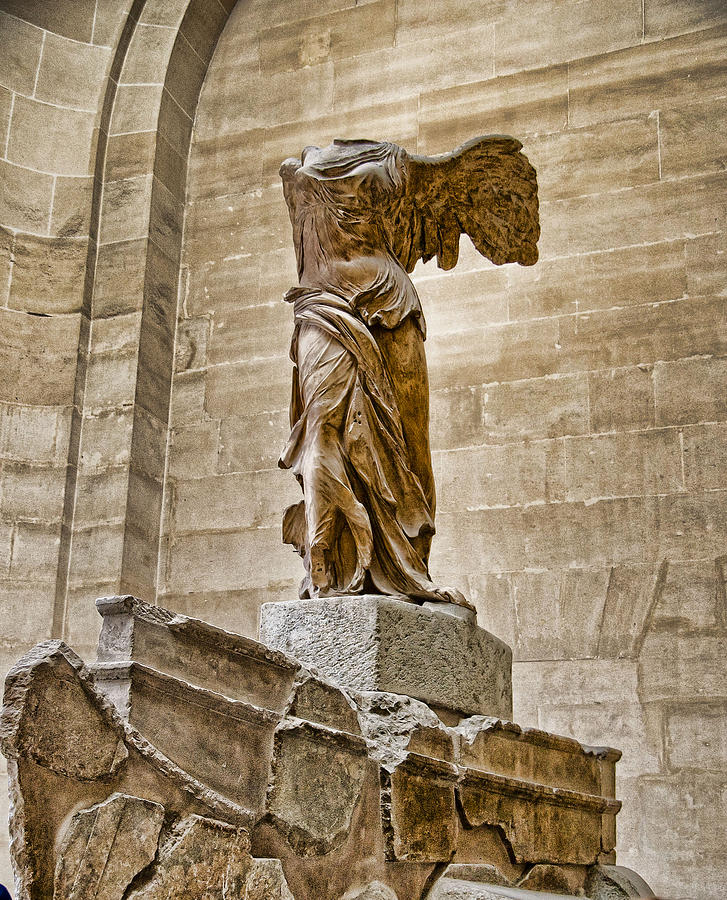 France Photograph - Winged Victory by Jon Berghoff