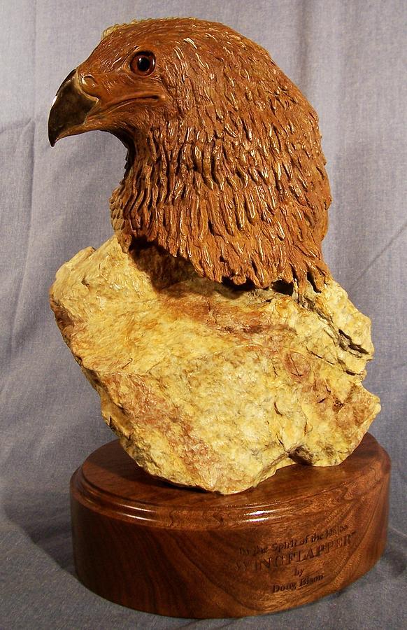 Eagle Sculpture - Wingflapper by Doug  Bison